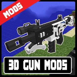 3D Gun Mods - Modern Weapon Mods For Minecraft PE