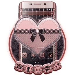 Black Lace Pink Heart