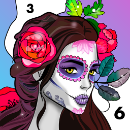 Relax Color: Coloring book by number for adults
