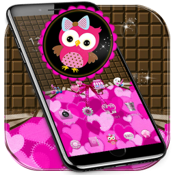 Lovely Owl Theme Pink Bow Owl