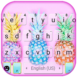 Colorful Pineapples Keyboard Theme