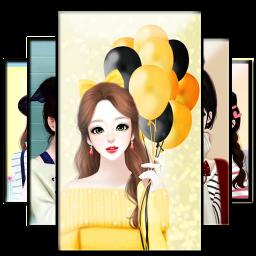 Cute Laurra Girl Wallpaper