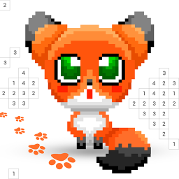 Fox.Color - Color by Number, Coloring Book Sandbox