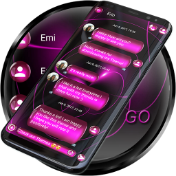 SMS Theme Sphere Pink - chat
