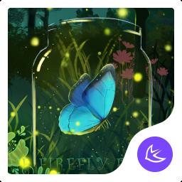 Green glitter firefly forest APUS stylish theme