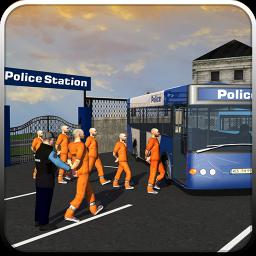 Coach Bus Police Transport 3D