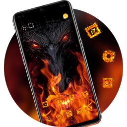 Burning Tree Warcraft dragon launcher theme
