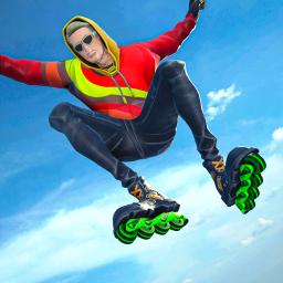 Sky Roller Skate Stunt Games 2021 - Roller Skating