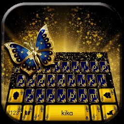 Glitter Butterfly Keyboard Theme