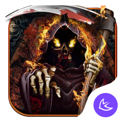 Flames Hell Moloch-APUS Launcher theme