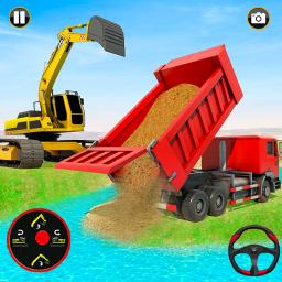 Grand Snow Excavator Simulator :Road Construction