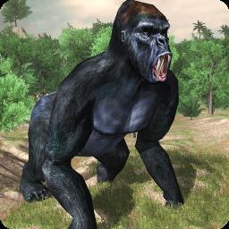 Angry gorilla vs Dinosaur: Wild Jungle Battle