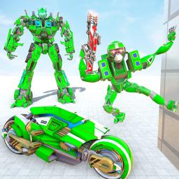 Monkey Robot Transform Games Moto Bike Robot Games