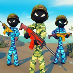 Military Stickman Combat Shooting