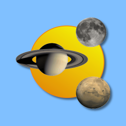 Sun, moon and planets