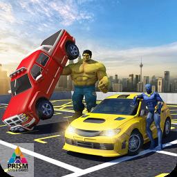 Superheroes Valet Car Parking Mania- Shopping Mall