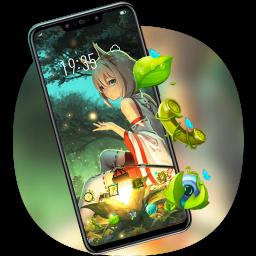 Crystal Fox Girl theme Bright Forest V15 Pro