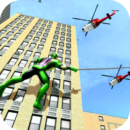 Spider Rope Man Street Fighter: Superhero Games