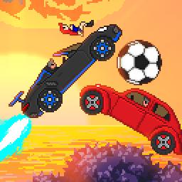 Pixel Boost League - 2D Rocket Powered Car Soccer