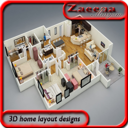 3D room planner layout