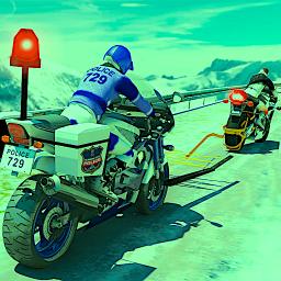 US Police Motorcycle Grappler: Highway Patrol Bike