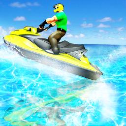 Water Surfing Boat Race
