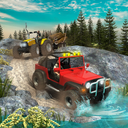 Offroad Long Trailer Truck Sim - Jeep Prado Games