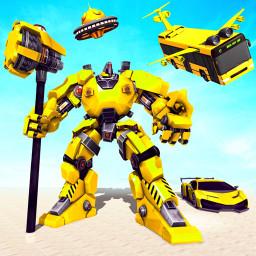 Flying Bus Robot Car - Multi Robot Transform Game