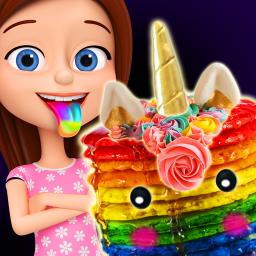 Glowing Unicorn Desserts! Rainbow Pancakes & Pie