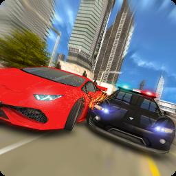 Police Car Chase : Gangster Escape Sim 2017