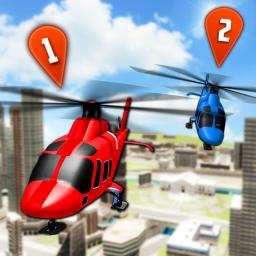 Flying Helicopter Simulator 2019: Heli Racer 3D