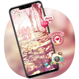 Romance love couple theme for Note 3