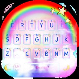 Rainbow Galaxy Keyboard