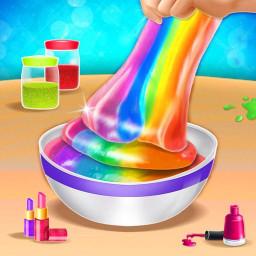 Fluffy Slime Maker DIY Rainbow Fun
