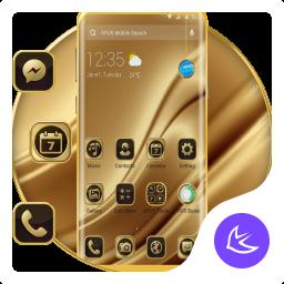 Golden Silk APUS Launcher Theme