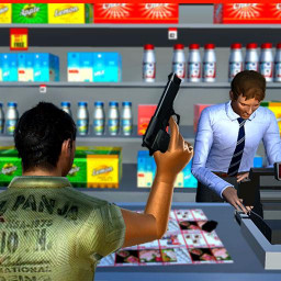 Supermarket Robbery Crime City Real Gangster Games