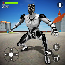 Flying Panther Robot Hero City Crime Fighter