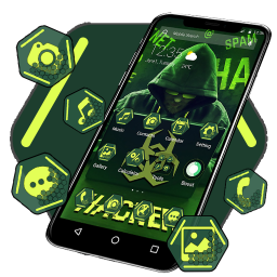 Secret Hacker APUS Launcher Theme