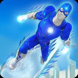 Flying Ice hero Robot: Speed Hero Robot Games