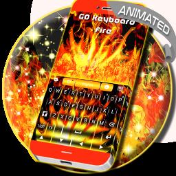 Flames Animated Keyboard Theme