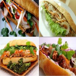 مجموعه انواع ساندویج و همبرگر مقوی