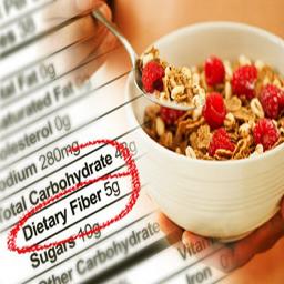 درصد فیبر و کالری در غذا