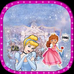 Girls princess Stickers for whatsapp