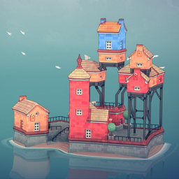 Water Town - Townscaper