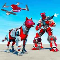 Dog Robot Transform: Real Drone Robot War