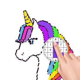 Unicorn Coloring Book - Color by Number