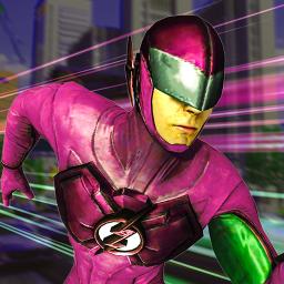 Real Speed Robot Hero: NY Crime City Battle
