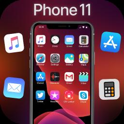 iLauncher Phone 11 Max Pro OS 13 Black Theme