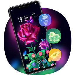 Theme for galaxy shiny roses flowers hd launcher