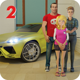 Family Dad Life:Virtual Dad Mom Family Simulator 2